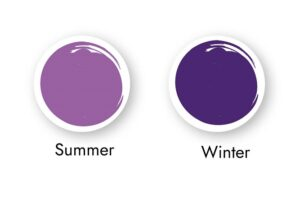 Purples for cool skin tones