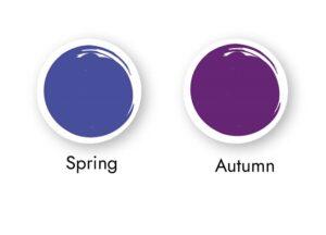 Purples for warm skin tones