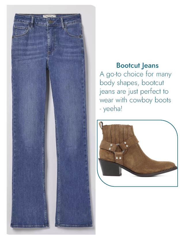 Bootcut jeans & cowboy boot blog