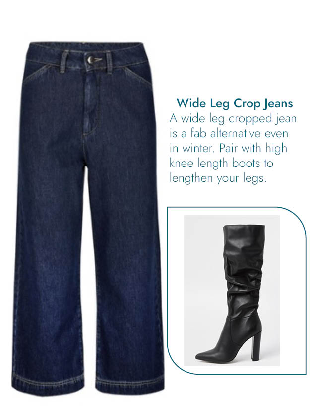 Wide Leg Jeans with high heel Boots Blog